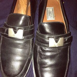Versace men dress shoes slightly worn